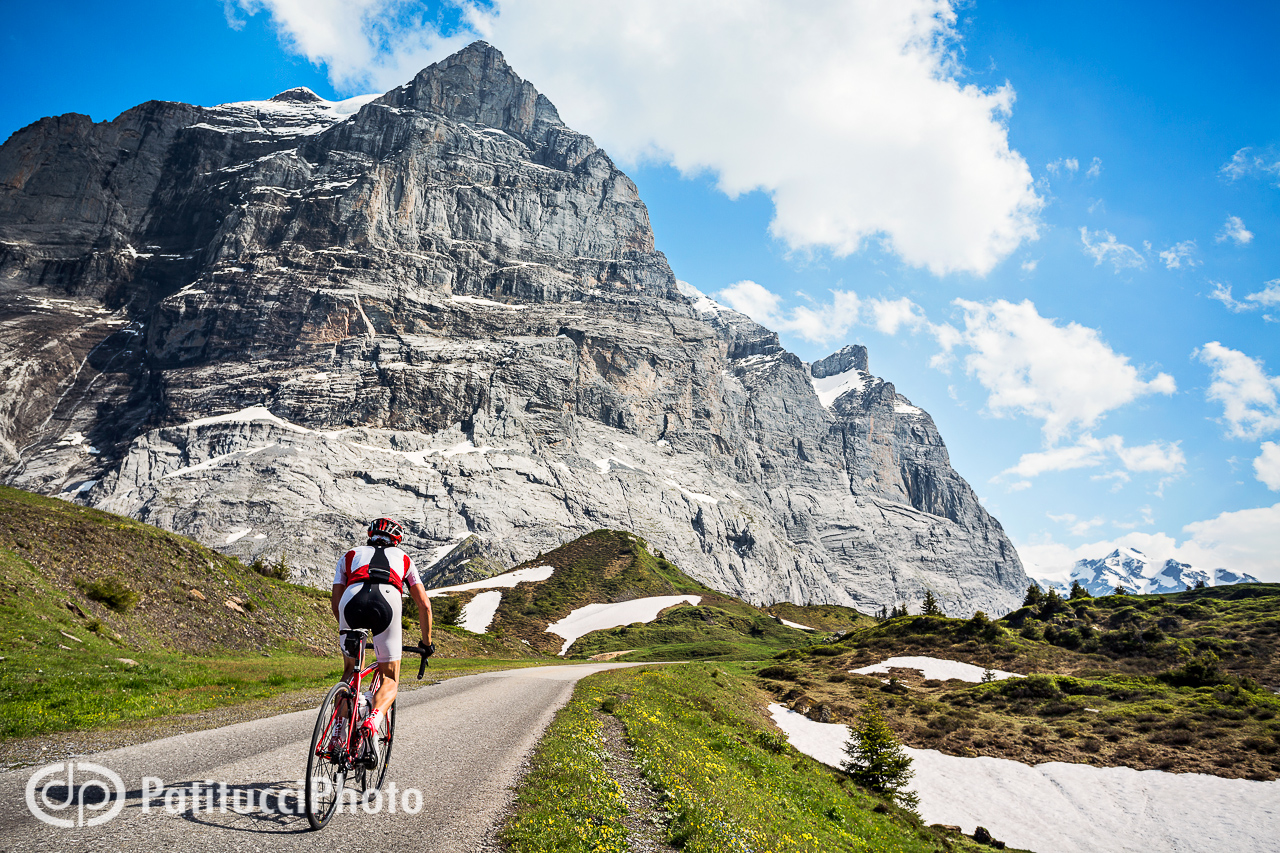 Road biking in the Swiss Alps