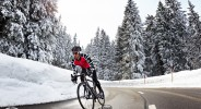Winter road biking