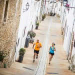 Pablo and Cristina running through Begur