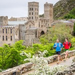 Running by the Monastery de Sant Pere de Rodes