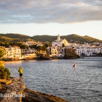Pablo out for dawn patrol in Dalí's hometwon of Cadaqués