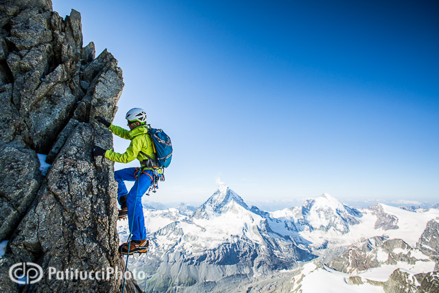 Alpine climbing on the Obergablehorn