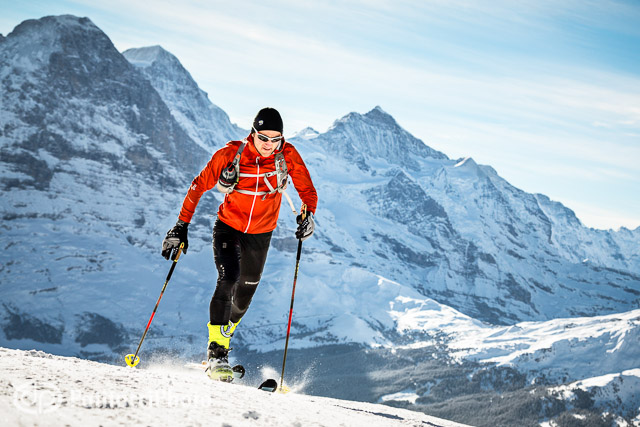 Ueli Steck ski mountaineering training