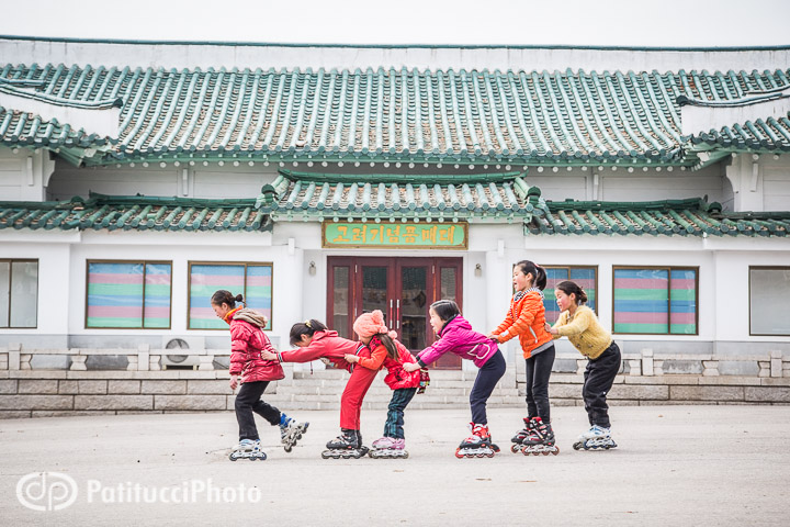 North Korean children playing