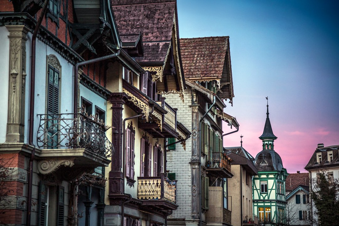 Traditional Homes And Architecture Of Interlaken Switzerland