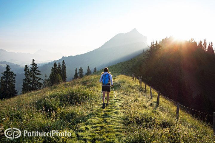 The Hardergrat trail, Swiss Alps