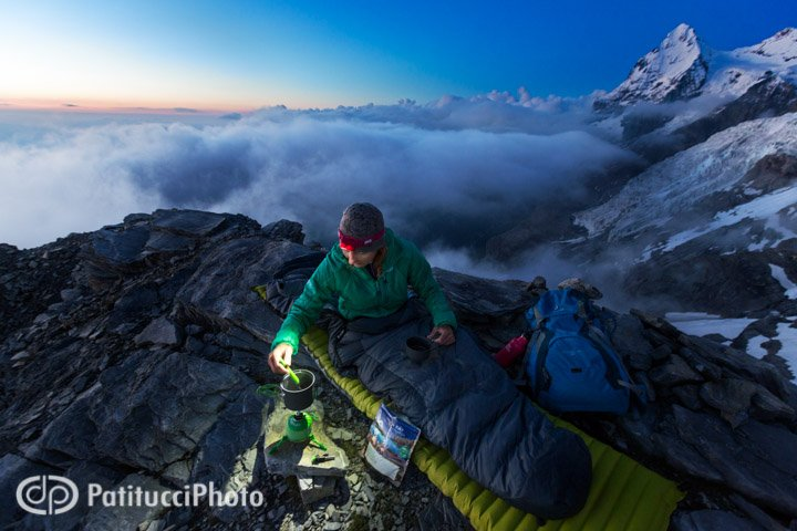 """Janine and I on what we called, """"Date Night"""", Patitucci style. Up beneath the Jungfrau, with the Eiger in the background, Switzerland."""