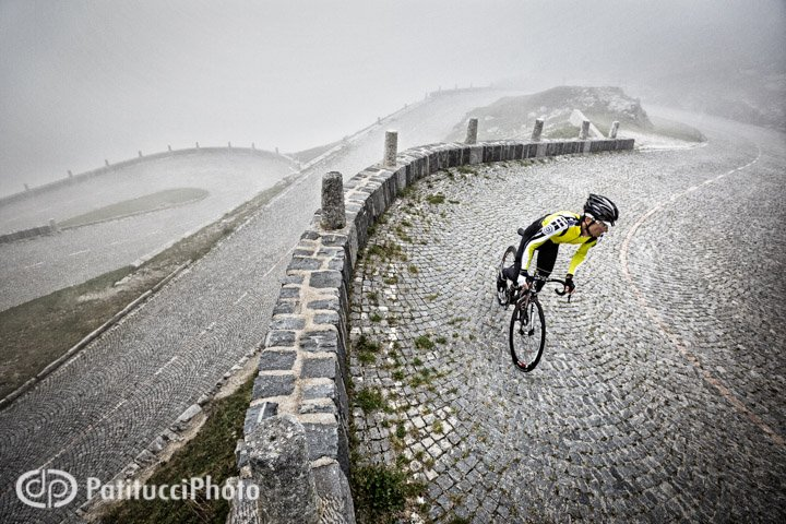 Moody weather, and lots of it. Riding the Passo Tremola, or Gotthard Pass - a cobbled, beast of a pass in Switzerland.