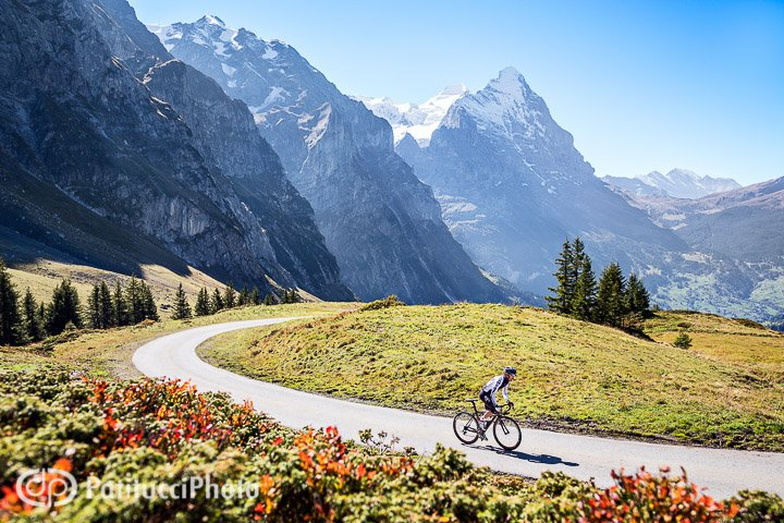 Fall. Above Grindelwald on the Grosse Scheidegg with the Eiger in the background.
