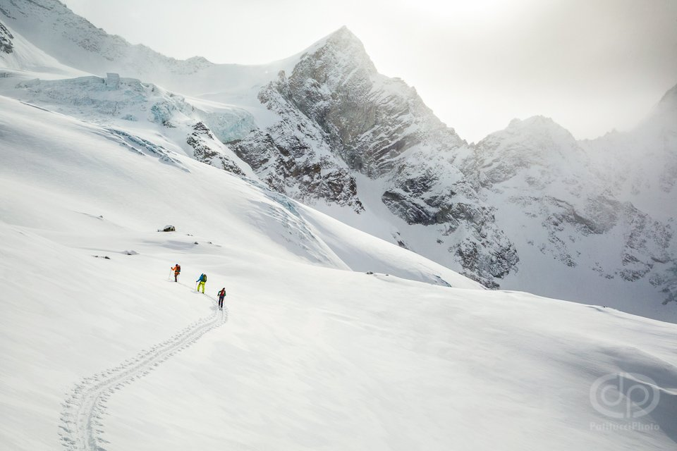 Ski touring in the Swiss Alps