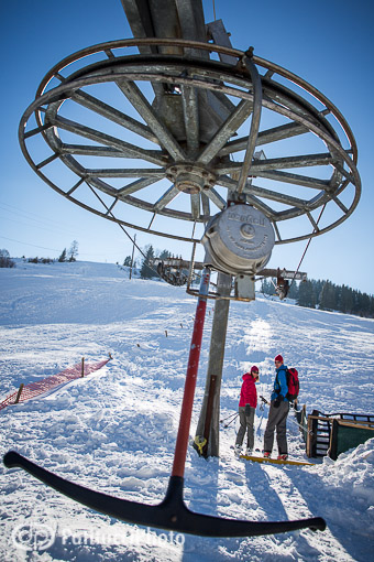 The T Bar lift at Boge