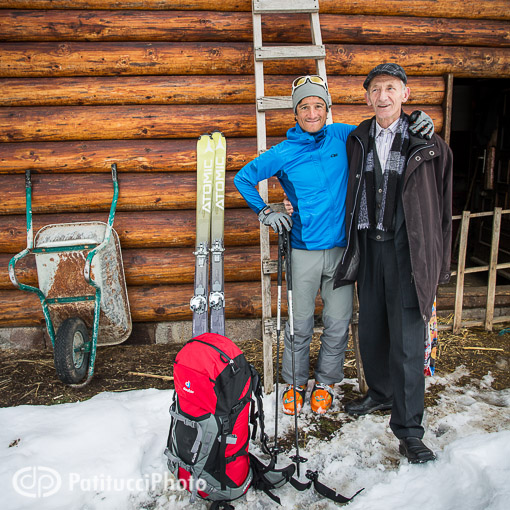 Skier and Kosovo local