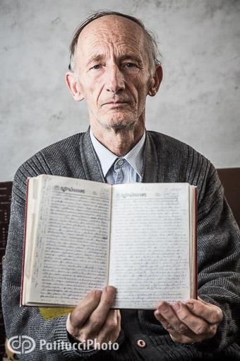 Portrait of a man in Kosovo