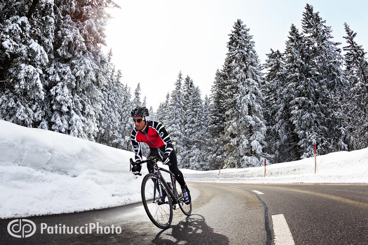 Winter road biking