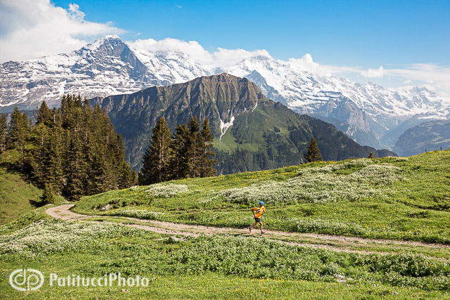 Trail running in the Swiss Alps