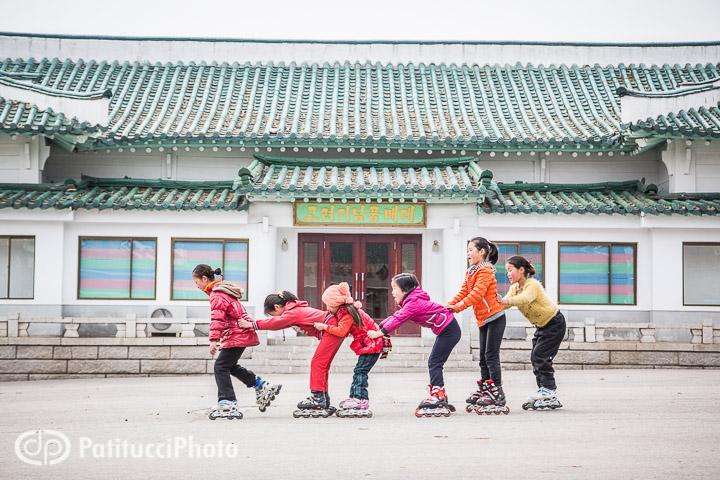 North Korean children playing
