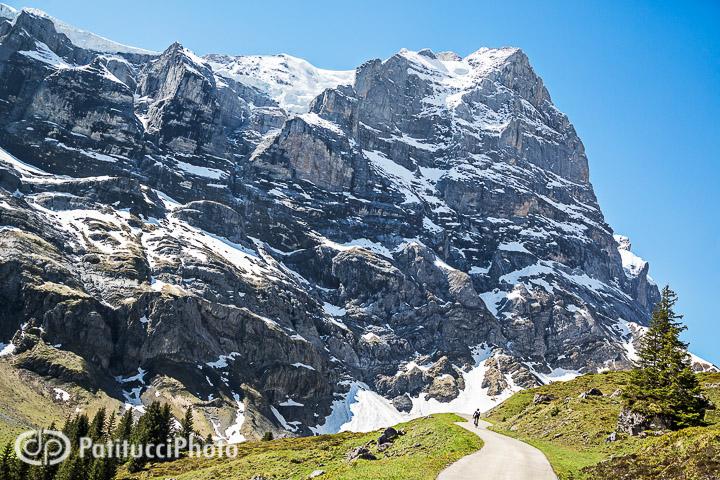 Road biking Grosse Scheidegg pass, Switzerland