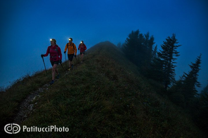 Hiking with headlamps