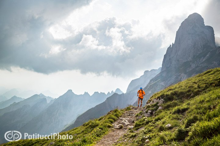 Trail running in the Alpstein, Switzerland