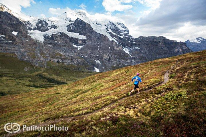 Trail running near Grindelwald, Switzerland