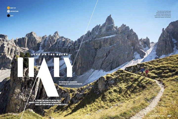 Backpacker Dolomites Alta Via 2