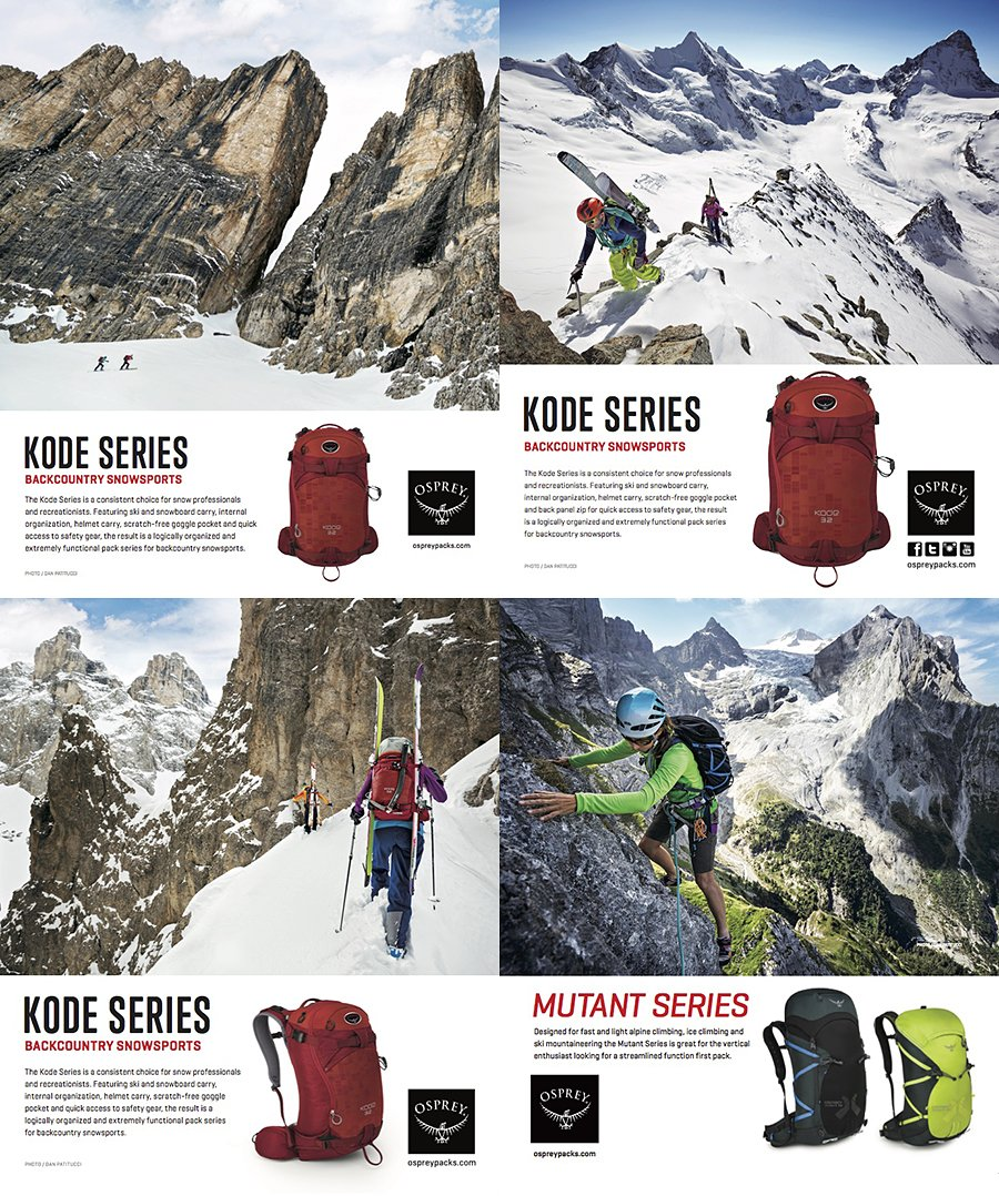 Osprey Packs : Brand Partner, Commercial Photoshoots